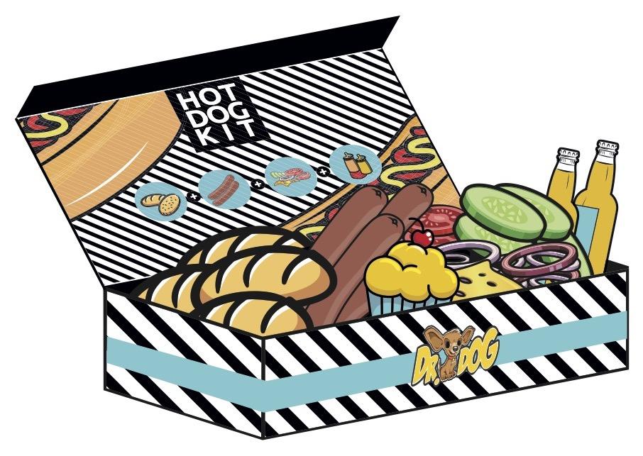 Hot dog fully loaded kit